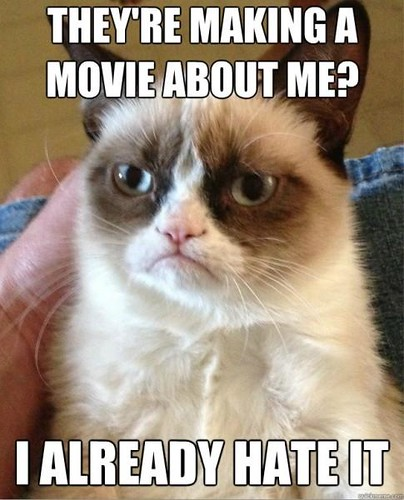 Grumpy cat hates her movie