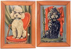 Vintage Paint by Number Poodles