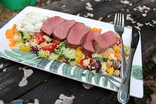 Lamb & Couscous Salad with Tzatziki