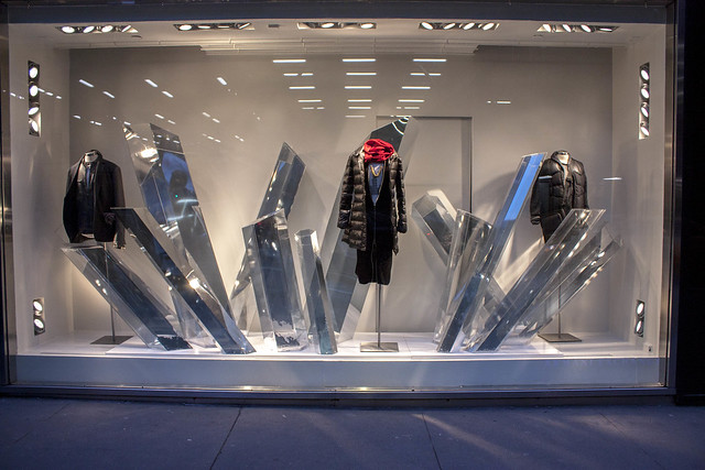Armani Exchange Window Display Designs, Sculptures and installation by Shop Studios - ShopStudios.com