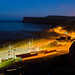 Night falls over Saltburn.