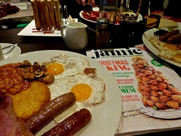 festive breakfast