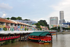 Singapore - Riverboat on Clarke Quay