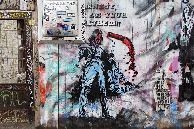 ambush i am your father banksy street art berlin 6760 flickr photo sharing. Black Bedroom Furniture Sets. Home Design Ideas