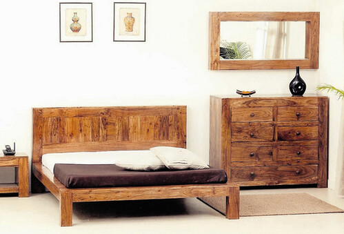 natural living wooden bed frame