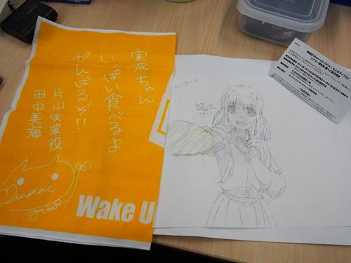 Wake Up Girls!の前売り特典と入場特典。キャラがダブった。