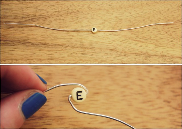 diy monogram earrings 2