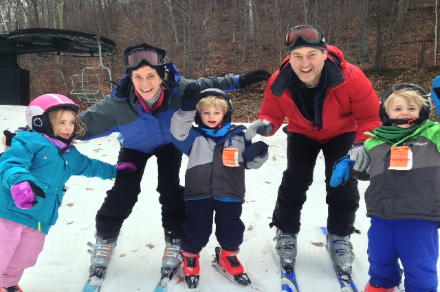 TV's Richard Wiese and family at Jiminy Peak