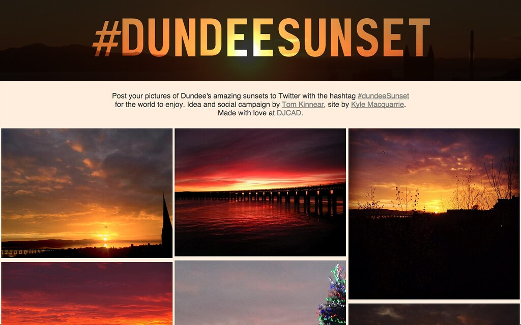 Dundee Sunset homepage