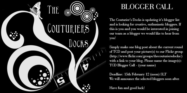 The Couturier's Docks - Blogger Call
