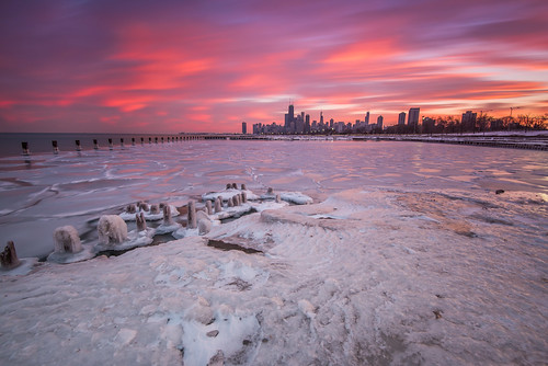 winter sunset lake chicago cold color tower ice beach water 30 skyline night clouds illinois nikon long exposure downtown cloudy 10 michigan sears freezing il stop filter freeze nd hancock nikkor trump fullerton f4 willis density neutral d600 1635mm pwwinter
