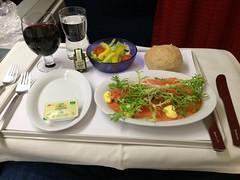 Business class meal