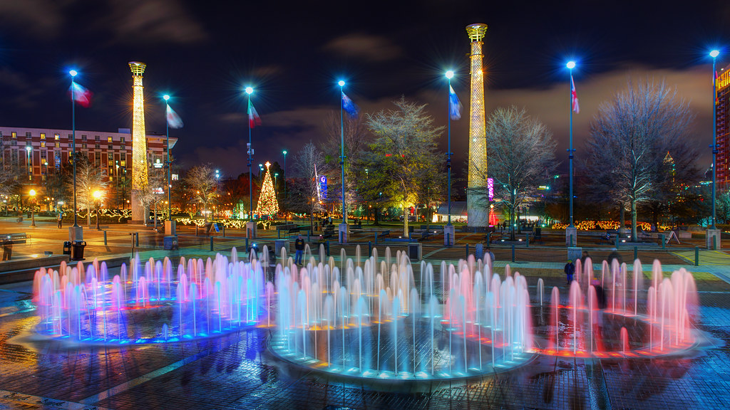 Atlanta S Fountain Of Rings At Centennial Olympic Park