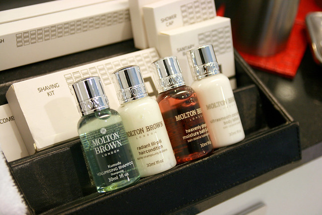 Oh those Molton Brown bath amenities!