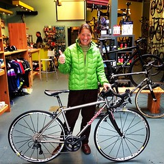 TS and her new Seven Axion S #sevencycles