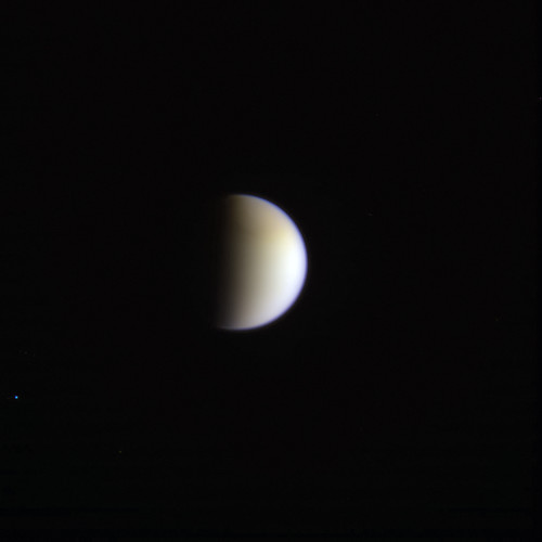A nice Blue Dot but it is not Earth! Titan and α Pyx N00220665-66-67 red grn bl1 filters