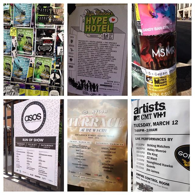 SXSW showcase posters