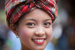 face, model, portrait photography, dastar, clothing, skin, red, girl, head, close-up, turban, pink, beauty, portrait, smile, headgear,