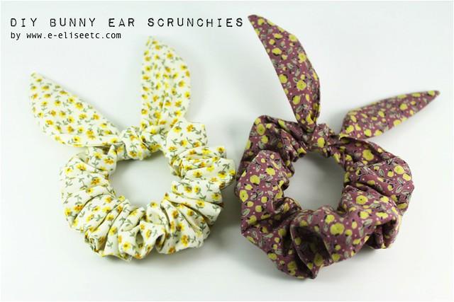 diy bunny ear scrunchie 1