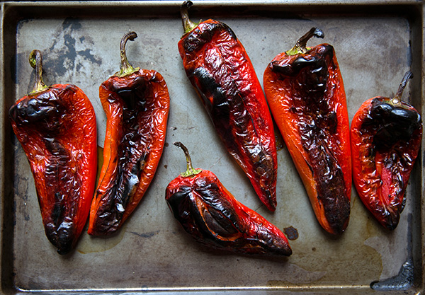 How to Peel a Pepper, from Food52