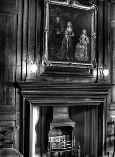 Ham House - Painting and Fireplace