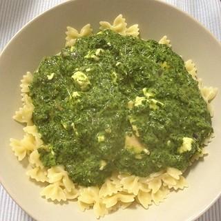 #vegetarisches #karfreitsgsmenü: Nudeln mit Spinat-Schafskäse-Lachssauce. #lecker #abendessen