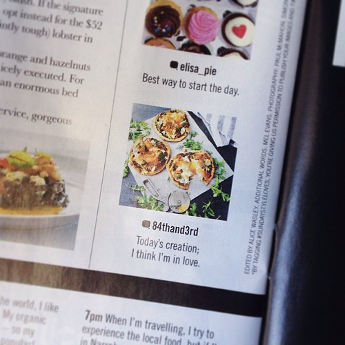 Thanks @sundaystyle for featuring my #sundaystyleloves smoked salmon breakfast pizzas in today's mag! Happy Easter!