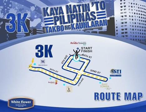 White Flower Run map 3k