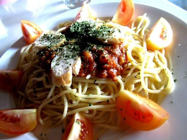 JackPork spaghetti with sausage