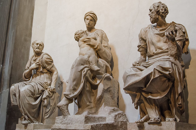 20150521-Florence-Medici-Chapel-Michelangelo-Madonna-and-Child-Medici-Saints-Cosmas-and-Damian-0213