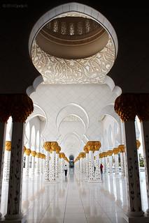 Image of Sheikh Zayed Grand Mosque near Abu Dhabi. architecture shadows uae middleeast mosque abudhabi unitedarabemirates sheikhzayedgrandmosque