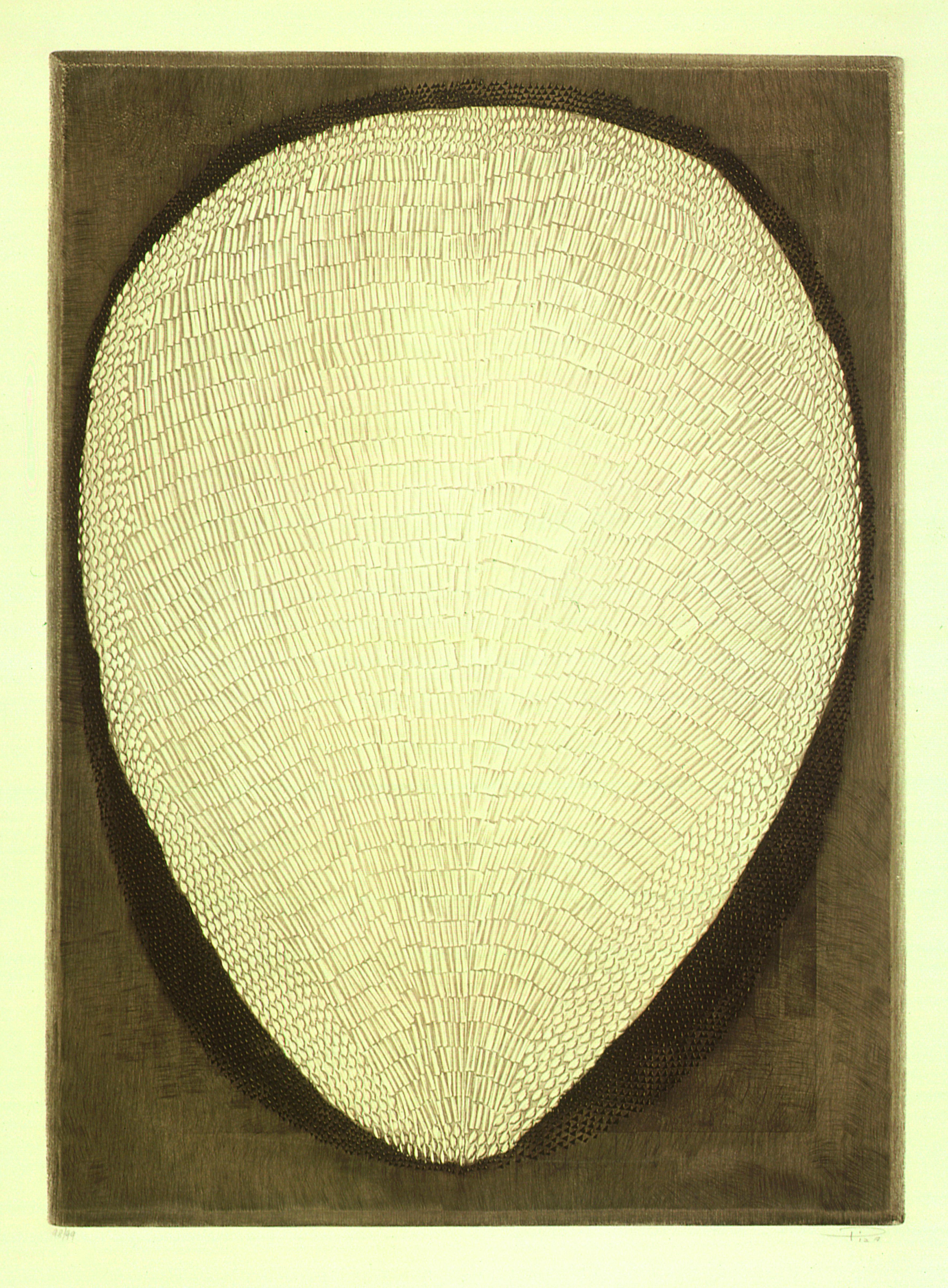 Fruto Autor: Arthur Piza Ano: 1998/1999 Técnica: Calcografia. Talho-doce Dimensão: 90cm x 64cm