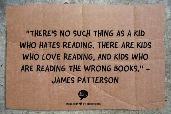 No such thing as a kid who hates reading