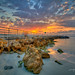 Sunrise-at-Jupiter-Inlet-Ocean-Park-by-Walkway by Captain Kimo