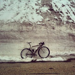 Just some snow, just a bit cold today at #giro #moncenisio #inverno #ciclismi