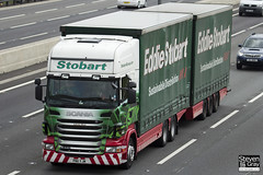 Scania R440 6x4 Curtainside with Drawbar Curtainside Trailer - PN11 YJM - Lakota Skye - Eddie Stobart - M1 J10 Luton - Steven Gray - IMG_8988