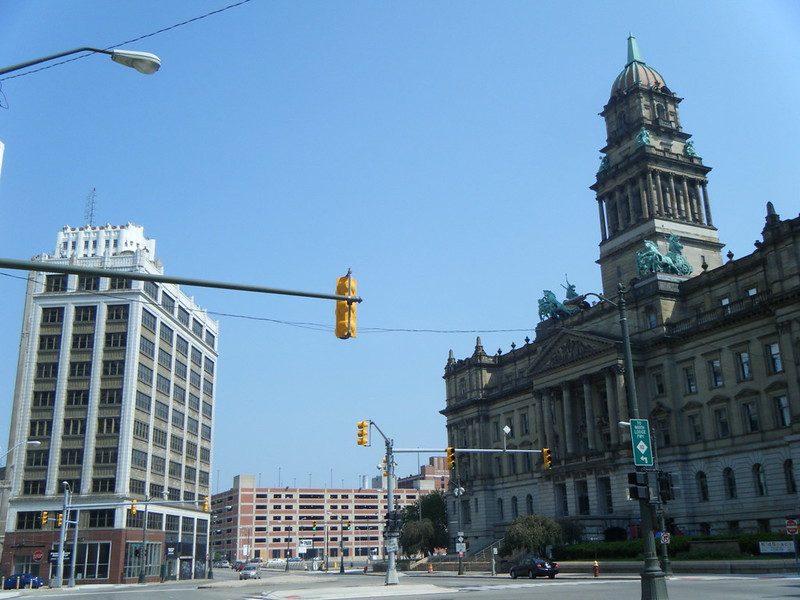Old Wayne County Building and neighbouring buildings