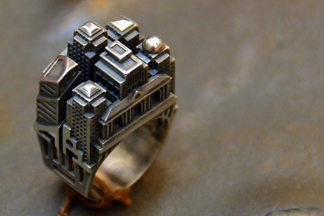 Architecture inspired ring by Tournaire