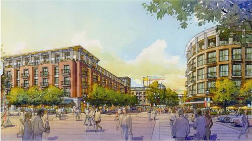 MacArthur Transit Village, LEED-ND gold, Oakland, CA (rendering courtesy of Alameda County)