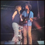 Sam Amiden welcomes wife Beth Orton to the stage. Photo by Carmel Holt