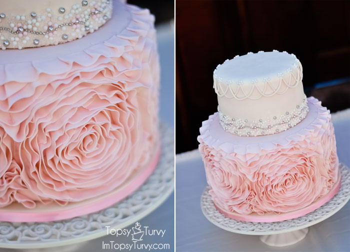 how to make ruffle rose wedding cake fondant rosette cake ashlee real with real food 15988