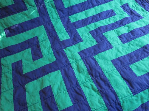 maze quilt, close up