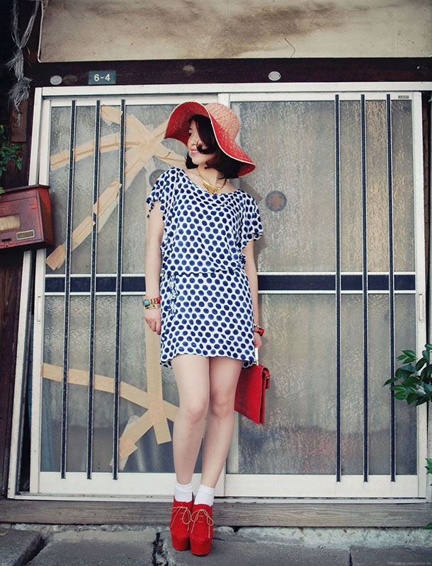 summer is blue polka dot
