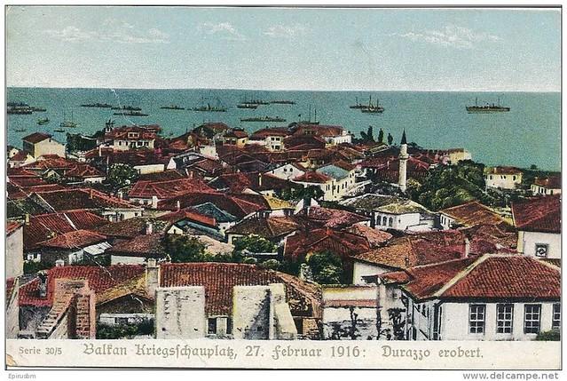 Pamje nga Durrësi, shkurt 1916. Vue de Durrës, 27 février 1916. View from Durrës, Feb 27th 1916. Vista de Durazzo.