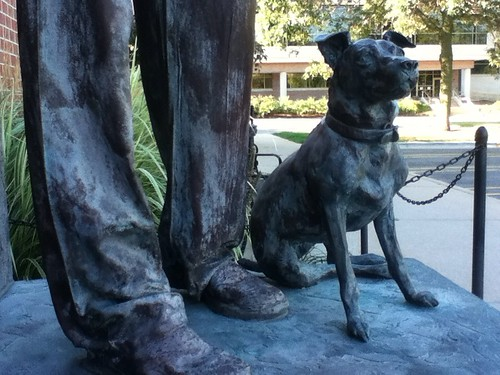 Sculpture outside small animal hospital