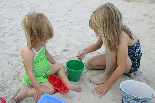 my girls in the sand together