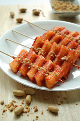 Korean Spicy Rice cake skewers [Ddukkochi]