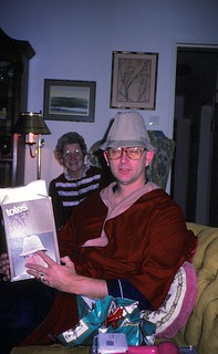 West Germany   -   Vaihingen    -   Patch Barracks   -   Bldg 2401  A6    -   John (with a hat he never wore) & my mother   -   Christmas 1985