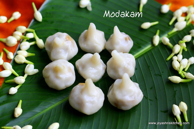 Modakam with coconut poornam