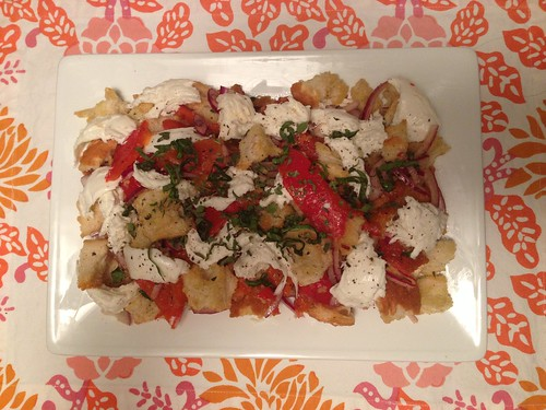 Roasted Pepper Panzanella Sarah
